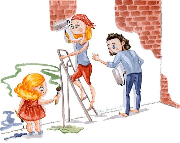 Bộ tranh: Khi trong nhà có một cô con gái nhỏ, mọi thứ đều tự động trở nên đáng yêu như thế này đây! - Ảnh 7.