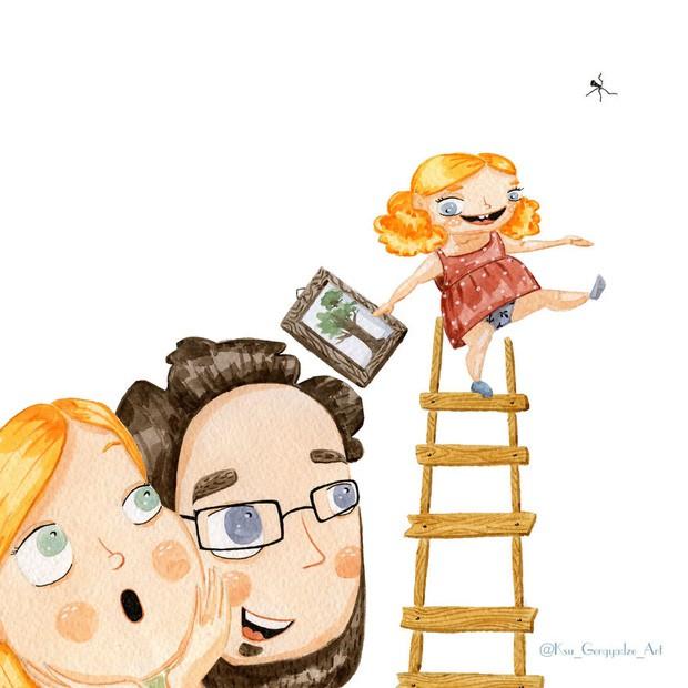 Bộ tranh: Khi trong nhà có một cô con gái nhỏ, mọi thứ đều tự động trở nên đáng yêu như thế này đây! - Ảnh 10.