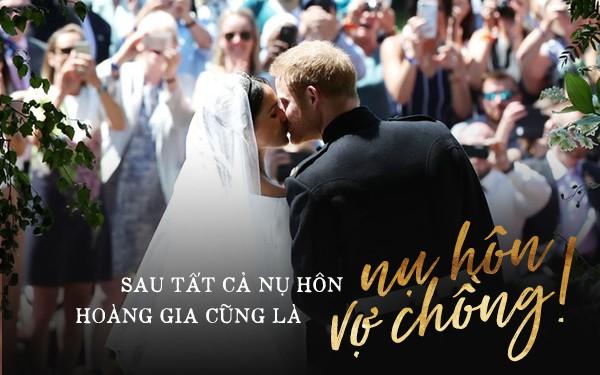 Đám cưới hoàng gia Anh: Hôn lễ kết thúc, cô dâu chú rể trao nhau nụ hôn ngọt ngào trước toàn thể mọi người - Ảnh 1.