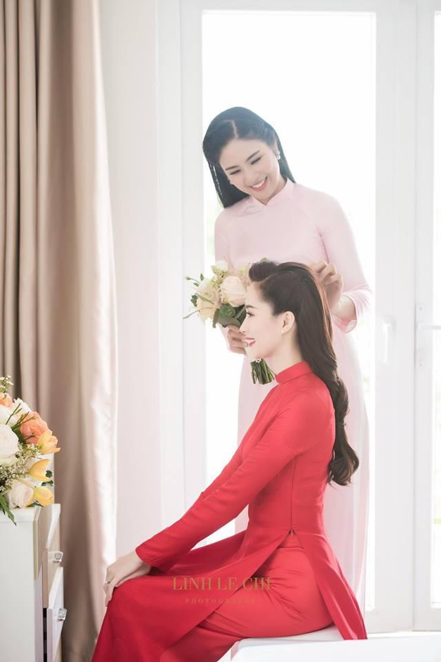 Cùng diện áo dài đỏ ngày ăn hỏi, Diệp Lâm Anh, HH Thu Thảo và Hà Tăng lại chọn 3 phong cách hoàn toàn khác nhau - Ảnh 8.