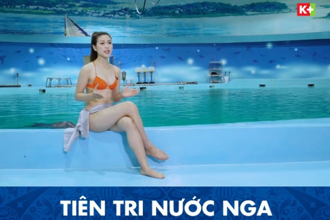 Video: MC kênh truyền hình Việt mặc bikini dẫn World Cup bị chỉ trích dữ dội - Ảnh 1.