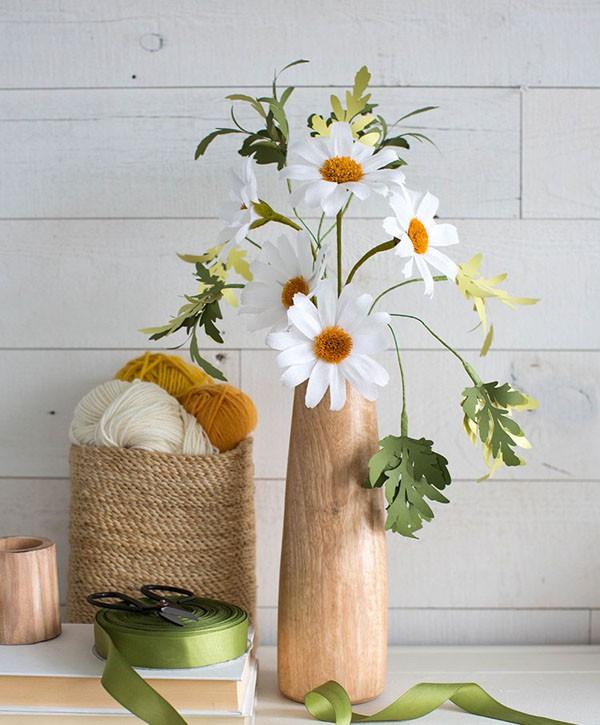Mách bạn cách làm hoa cúc giấy cực xinh cực dễ - Ảnh 8.