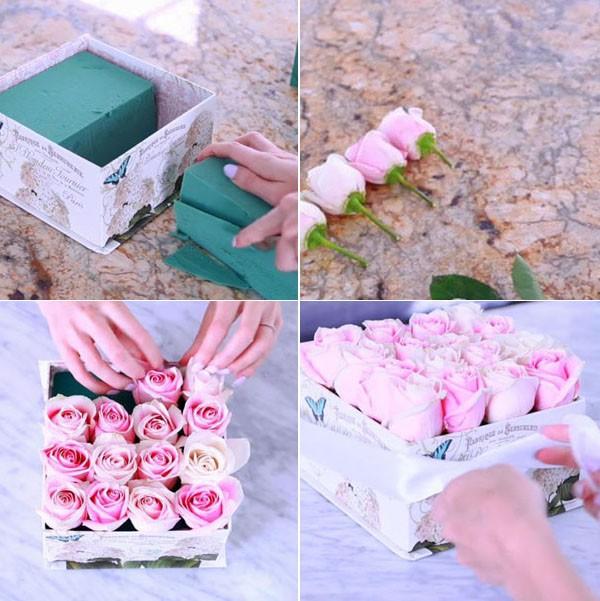 Không cần ra tiệm nữa bạn có thể tự cắm hoa hồng trong hộp siêu đẹp - Ảnh 8.