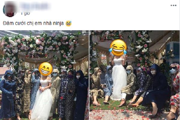 Cười không nhặt được mồm với thời trang đi đám cưới siêu nhắng của hội chị em nhà Ninja - Ảnh 1.
