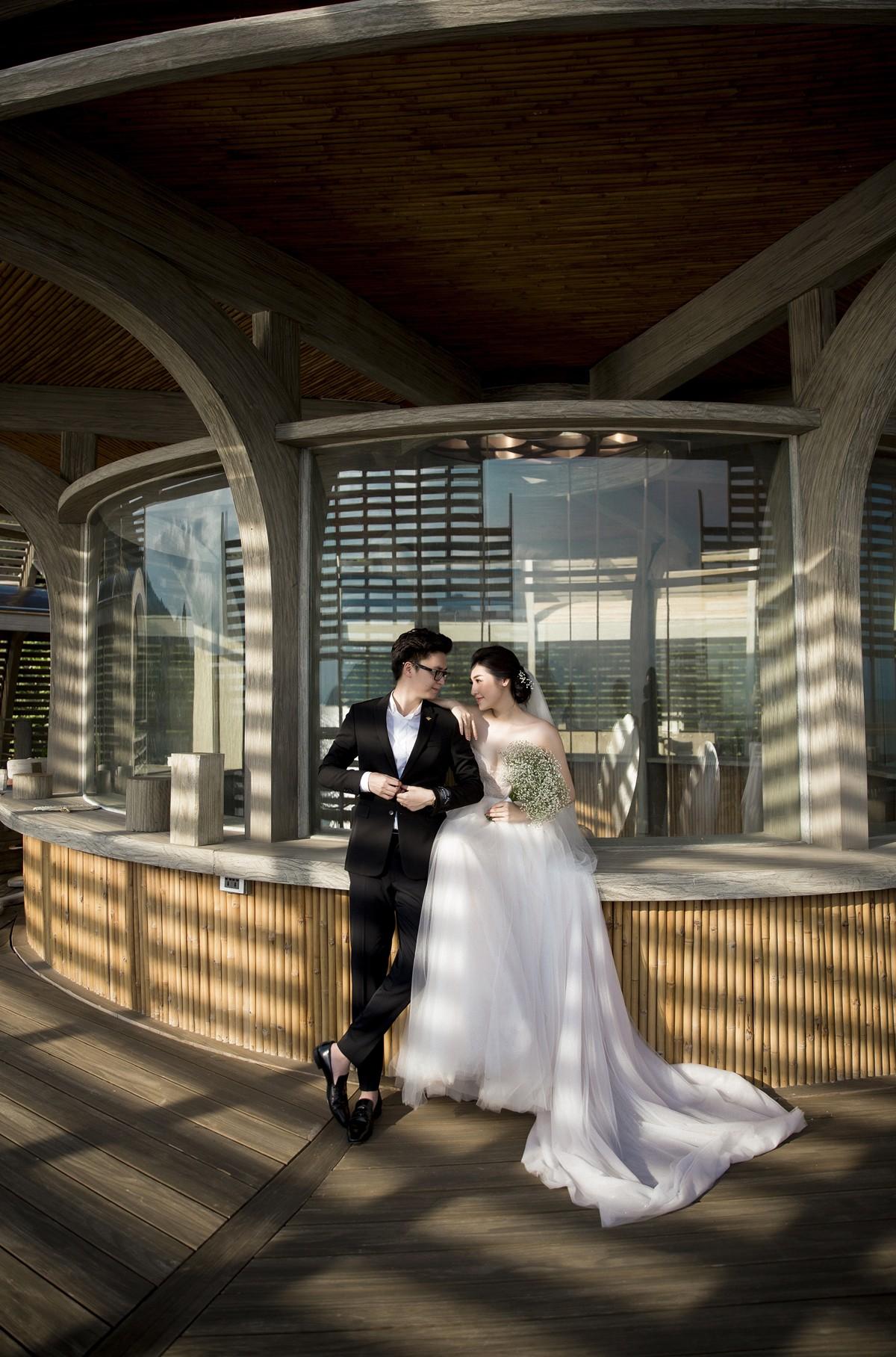 Trước ngày cưới 2 ngày, Á hậu Tú Anh khoe loạt ảnh cưới sang chảnh ngoài biển - Ảnh 5.