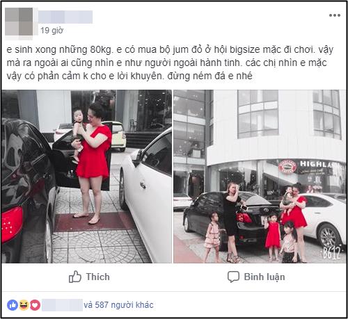 """Mặc váy đỏ sexy ra đường, mẹ bỉm sữa 80kg bị nhìn như """"người ngoài hành tinh"""", hội chị em lại rào rào ủng hộ - Ảnh 1."""
