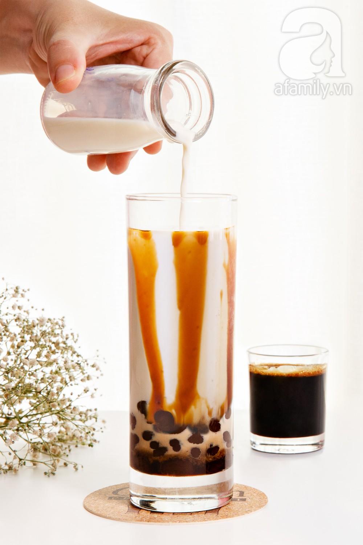"""Hot mom 8x Sài Gòn chia sẻ cách làm """"siêu phẩm"""" sữa tươi trân châu đường đen vạn người mê  - Ảnh 9."""