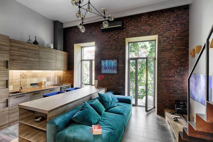 Chỉ nhờ 1 bí quyết, căn phòng 35m² trở thành căn hộ nhỏ có không gian thoáng đãng và lôi cuốn đến khó tin - Ảnh 3.