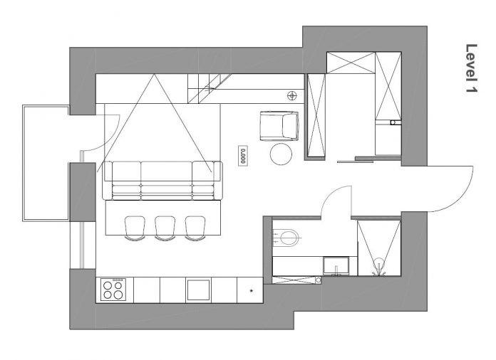 Chỉ nhờ 1 bí quyết, căn phòng 35m² trở thành căn hộ nhỏ có không gian thoáng đãng và lôi cuốn đến khó tin - Ảnh 9.