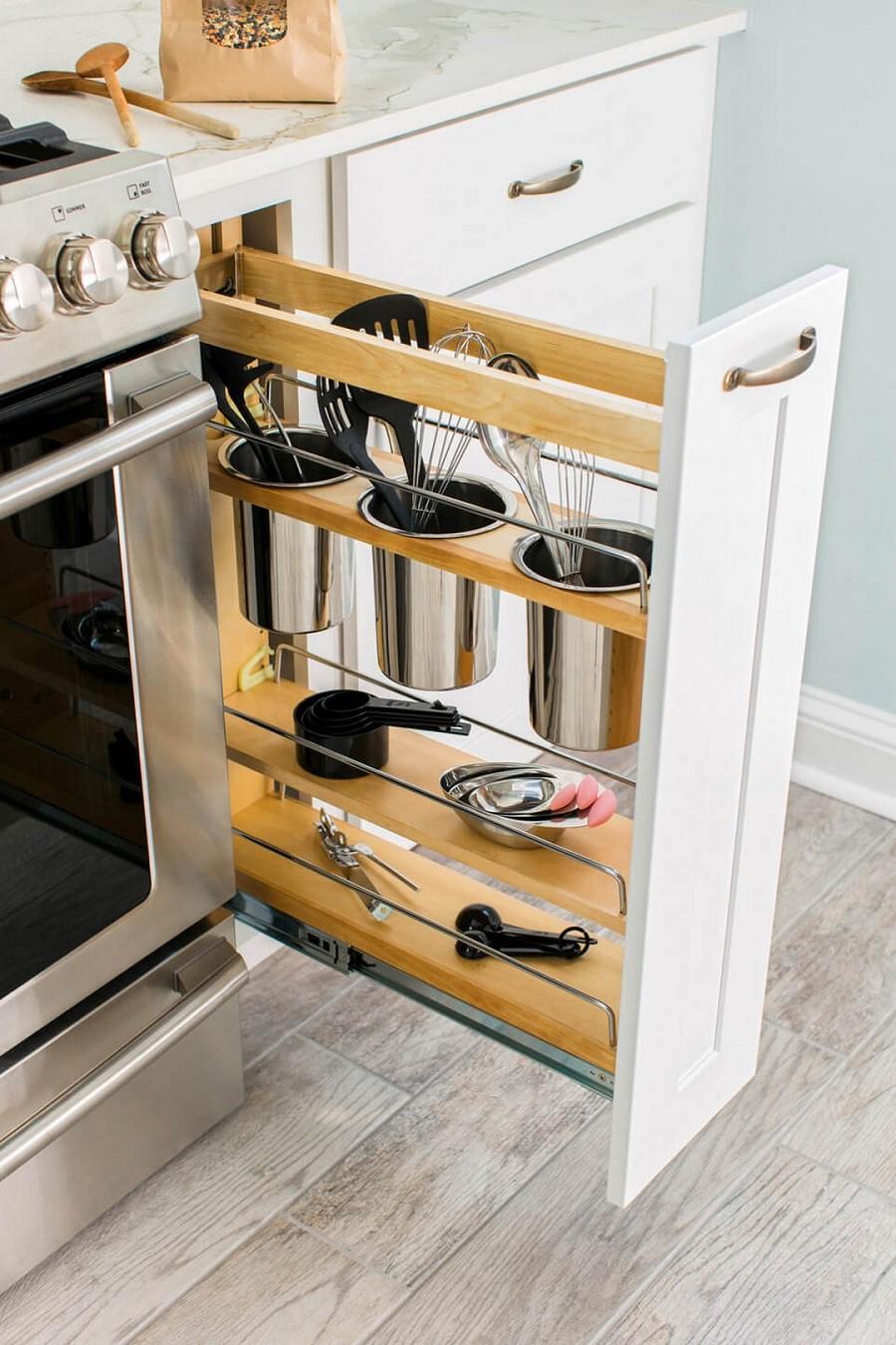 Muốn tủ bếp lúc nào cũng gọn gàng, ngăn nắp hãy tham khảo ngay những thiết kế lưu trữ đồ dùng làm bếp này - Ảnh 3.