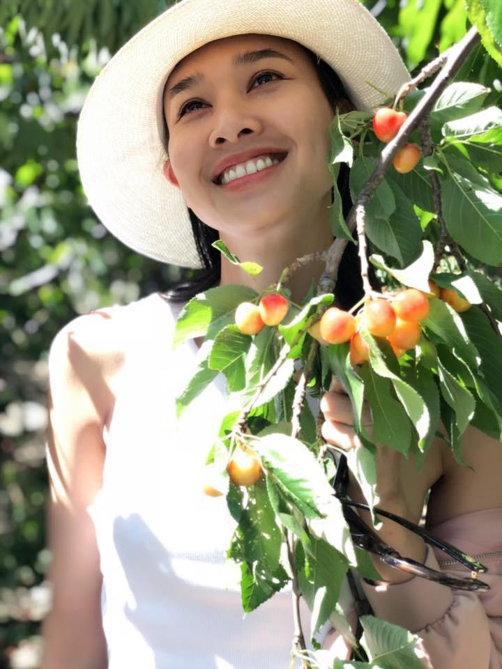 Khu vườn ngọt ngào với hoa hồng và cây trái sai trĩu trên đất Mỹ của Hoa hậu Dương Mỹ Linh - Ảnh 3.