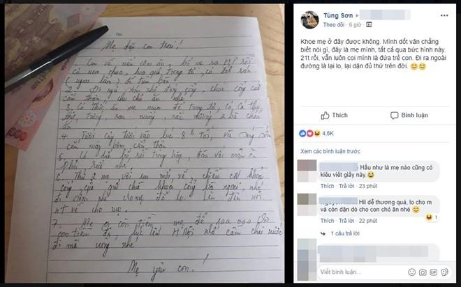 Đọc xong lời nhắn khi mẹ vắng nhà dài cả trang giấy cho con trai 21 tuổi, dân mạng cũng nô nức khoe mẹ mình - Ảnh 1.