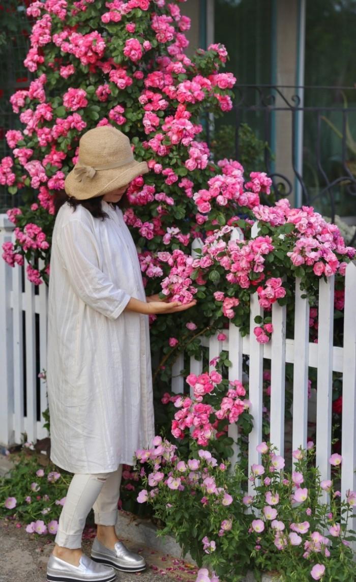 Ngôi nhà tràn ngập sắc hoa hồng ở thị trấn nhỏ của cô gái dành cả thanh xuân chỉ để trồng hoa làm đẹp nhà - Ảnh 10.