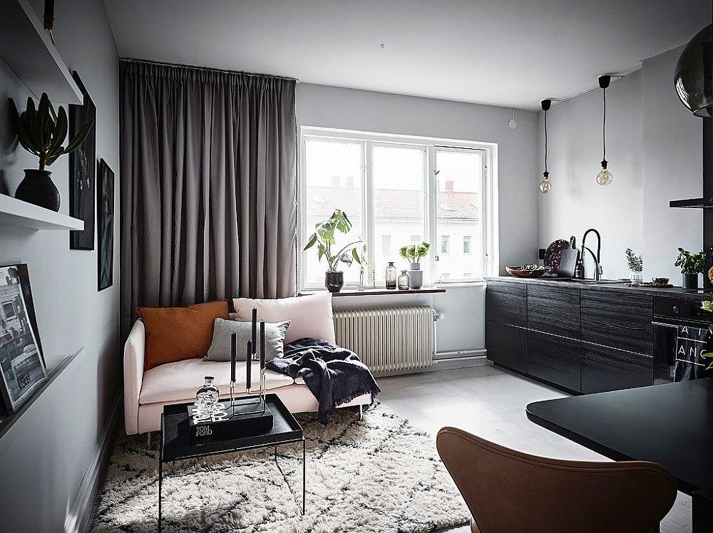 Căn hộ nhỏ vỏn vẹn 26m² nhưng góc nào góc nấy đẹp như khách sạn nhờ áp dụng phong cách này - Ảnh 1.