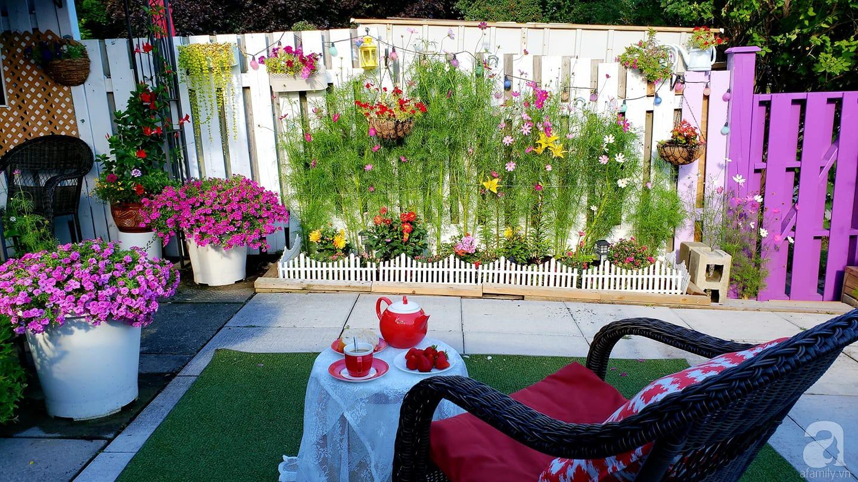 Góc sân vườn chỉ vỏn vẹn 5m² nhưng người phụ nữ quê Đà Lạt đã biến thành nơi thư giãn đẹp bất ngờ - Ảnh 1.