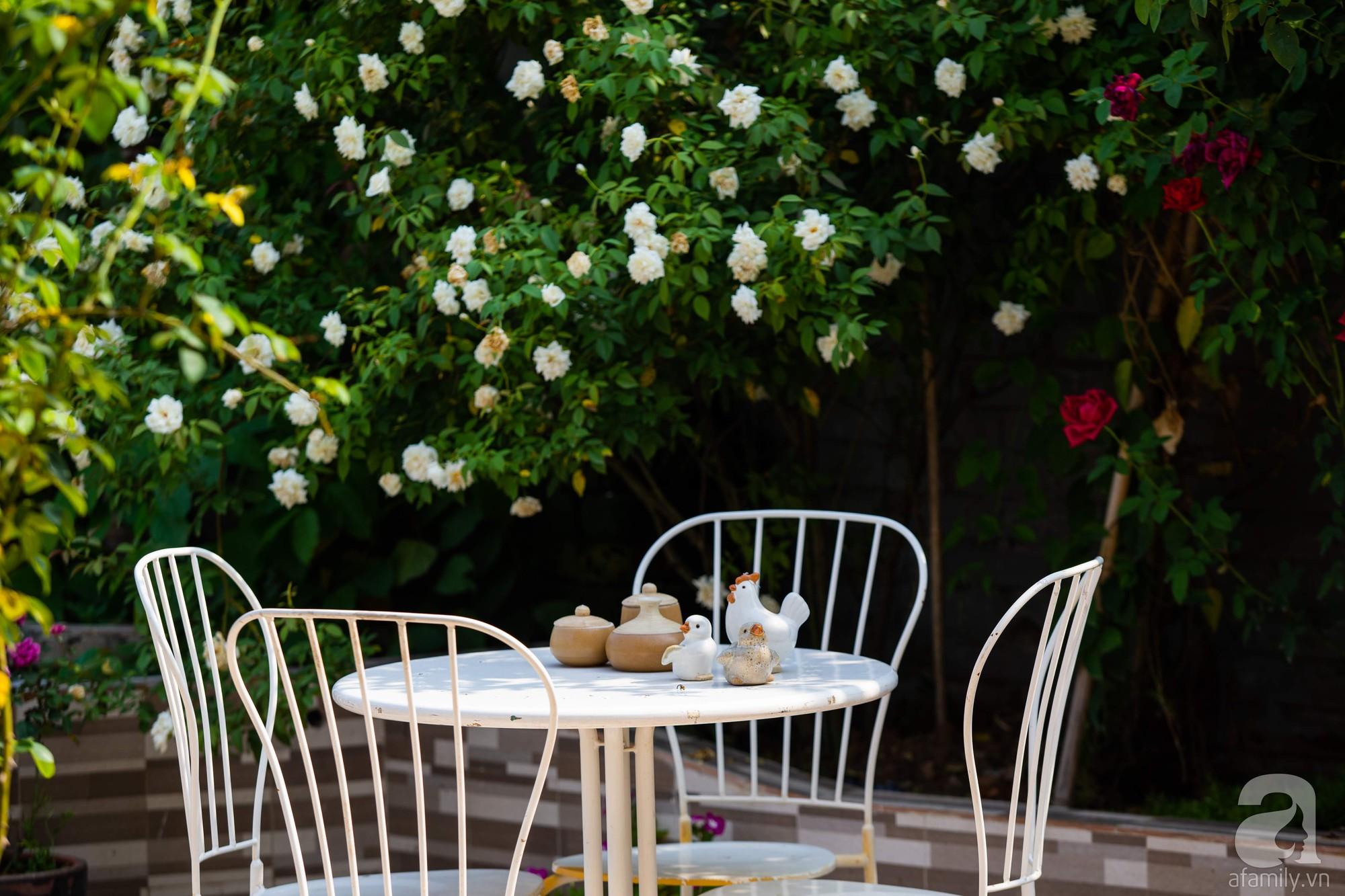 Khu vườn trên sân thượng rộng 200m² đẹp ngỡ ngàng với trăm loài hoa đua nhau khoe sắc ở Hà Nội - Ảnh 9.