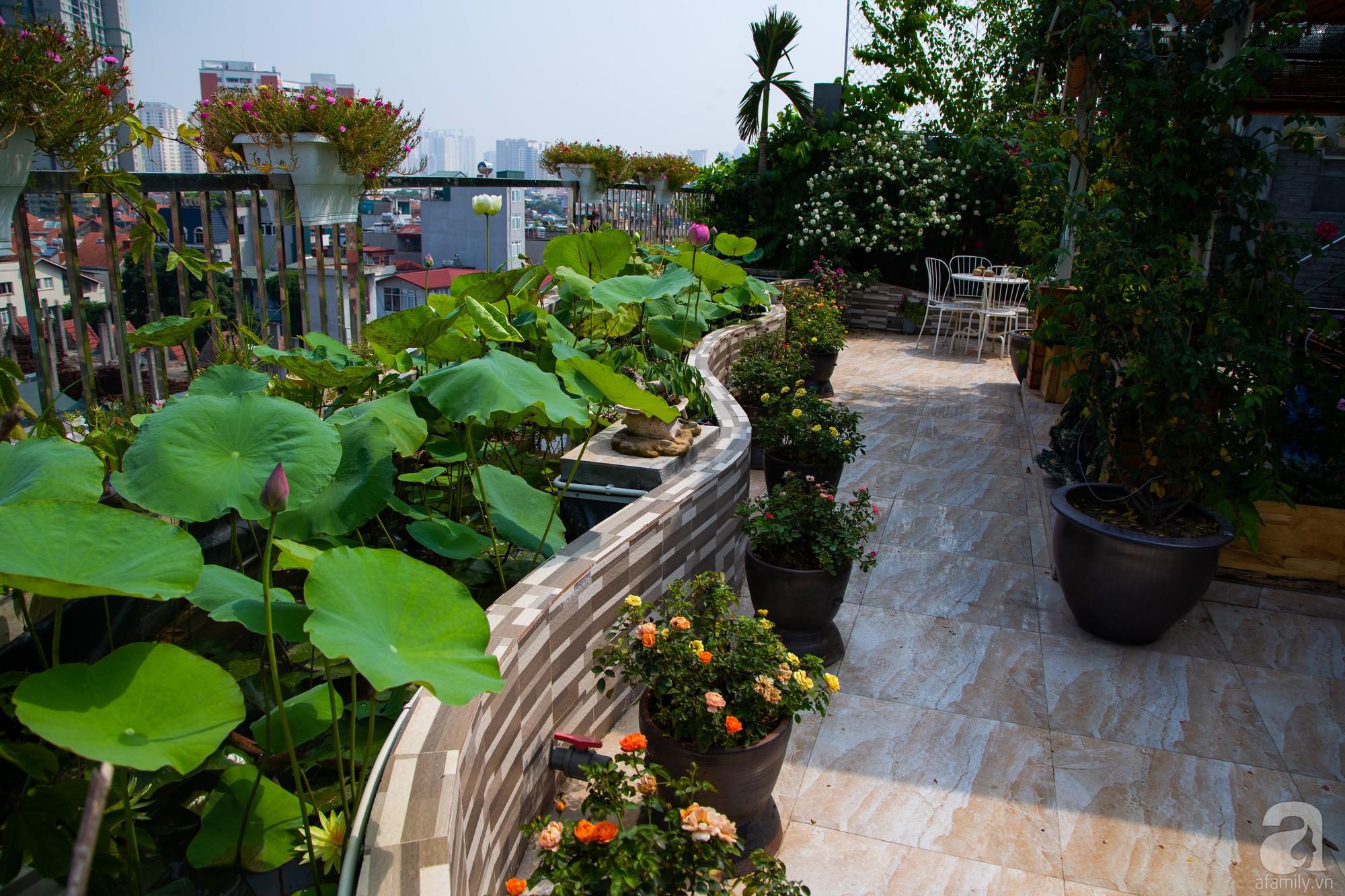 Khu vườn trên sân thượng rộng 200m² đẹp ngỡ ngàng với trăm loài hoa đua nhau khoe sắc ở Hà Nội - Ảnh 13.