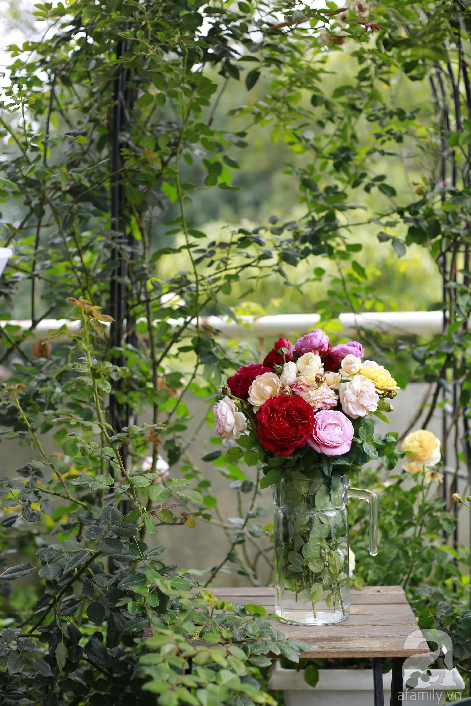 Khu vườn trên sân thượng vỏn vẹn 25m² nhưng có đủ thứ từ rau sạch đến hoa đẹp của bà mẹ trẻ ở Hà Nội - Ảnh 17.