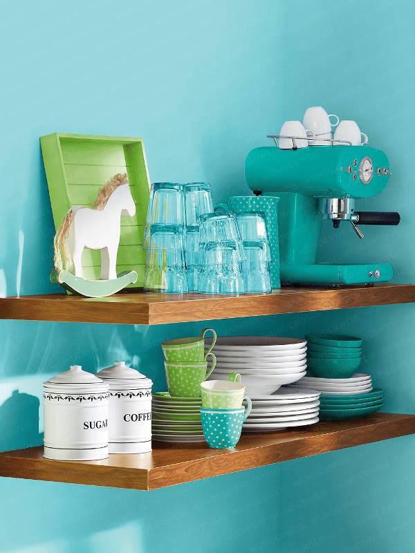 2 căn bếp nhỏ hiện đại và đẹp bất ngờ với tone màu xanh nhạt  - Ảnh 5.