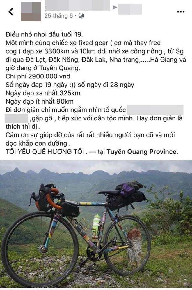 Khoe em trai 19 tuổi cùng hành trình xuyên Việt bằng xe đạp, nhưng dân mạng lại chú ý đến cô chị vì xinh xắn - Ảnh 2.