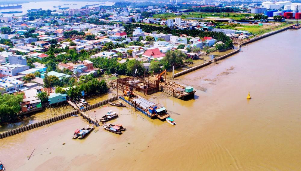 Chùm ảnh: Toàn cảnh sự bất động của loạt công trình chống ngập ở Sài Gòn vì... thiếu vốn, không còn bóng công nhân - Ảnh 8.