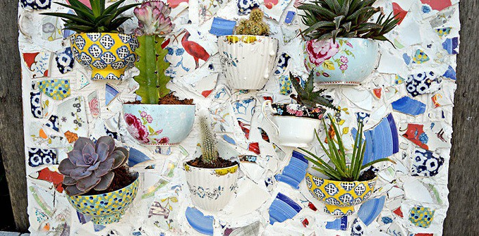 8 cách biến tấu tách trà và bát đĩa đã cũ thành vật trang trí nhà vừa tiết kiệm vừa đẹp - Ảnh 7.