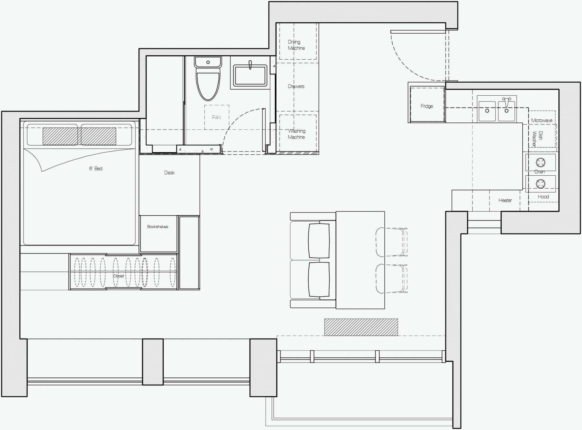 Ở nơi nhà đắt nhất thế giới, căn hộ nhỏ của cặp vợ chồng trẻ trở nên rộng gấp đôi nhờ giải pháp này - Ảnh 1.