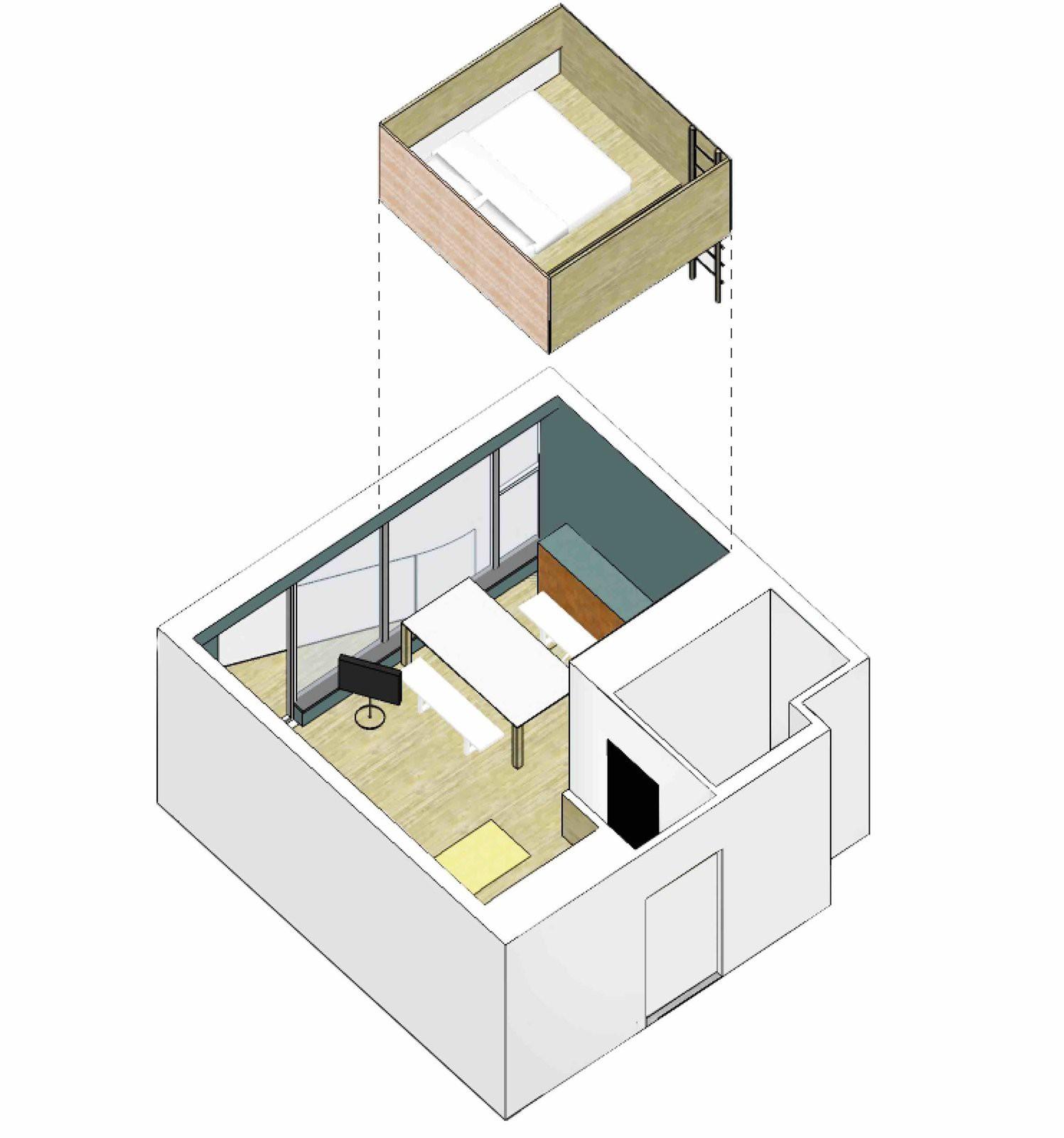 Chiêm ngưỡng căn hộ nhỏ này, bạn sẽ thấy nhà nhỏ nhưng có trần cao thì mọi việc đều được giải quyết đơn giản - Ảnh 8.