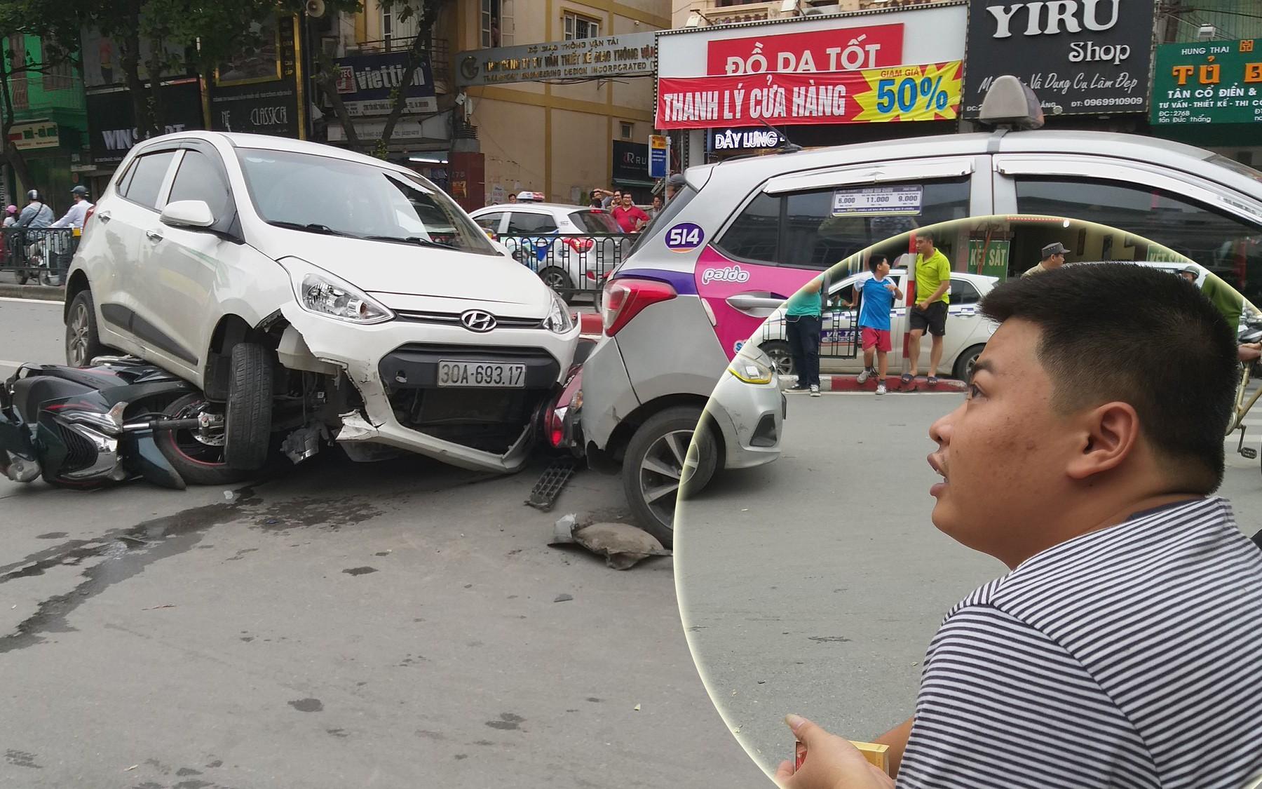 Lời kể của tài xế taxi bị xế hộp đâm trong vụ tai nạn liên hoàn trên đường Tôn Đức Thắng khiến nhiều người nhập viện
