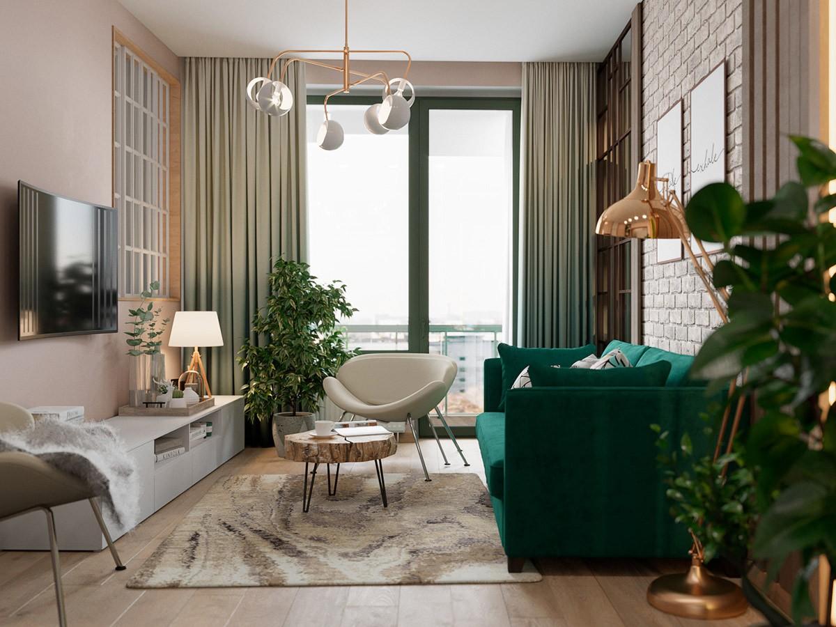 Căn hộ sở hữu một vườn cây xanh trong nhà