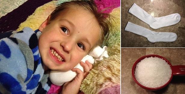 Chỉ với muối hạt và chiếc tất sạch, mẹ có thể chữa đau tai, viêm tai giữa cho bé tại nhà - Ảnh 3.