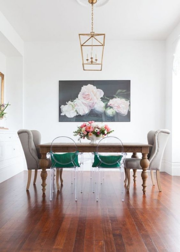 Kết hợp bàn gỗ kiểu cũ với ghế hiện đại - xu hướng mới cho phòng ăn gia đình - Ảnh 11.