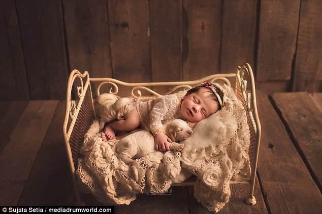 Ngắm những thiên thần bé nhỏ say gấc bên thú cưng đáng yêu - Ảnh 10.