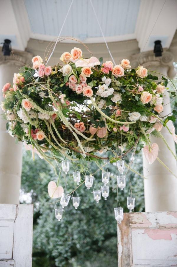 Đèn chùm bằng hoa tươi rực rỡ sắc màu làm duyên cho ngôi nhà của bạn - Ảnh 12.