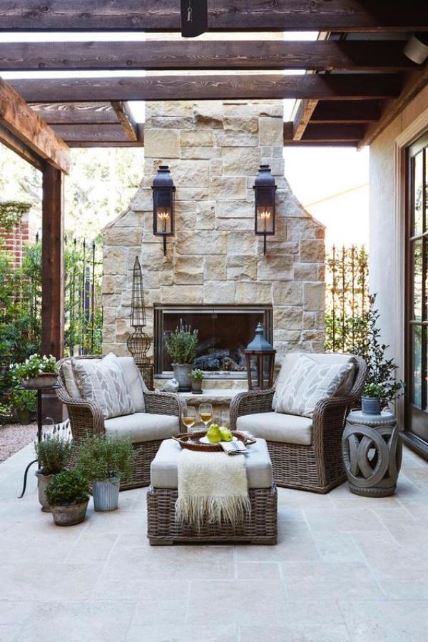 Phòng khách ngoài trời, ý tưởng tuyệt vời tận hưởng hương vị mùa hè - Ảnh 4.