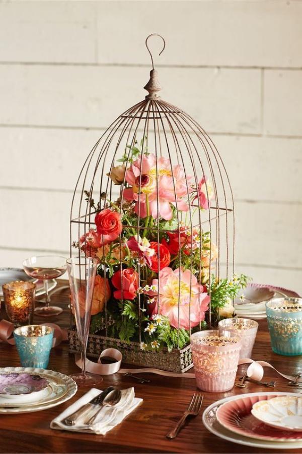 Lồng chim cũ và những ý tưởng tận dụng trang trí nhà cực lung linh, sáng tạo - Ảnh 4.
