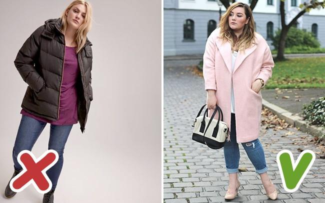 6 lỗi ăn mặc mà hội chị em thừa cân cần tránh trong mùa đông kẻo bị dìm dáng không thương tiếc - Ảnh 3.