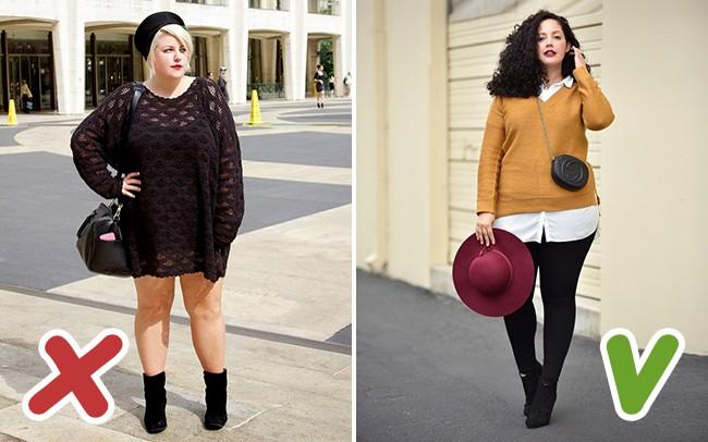 6 lỗi ăn mặc mà hội chị em thừa cân cần tránh trong mùa đông kẻo bị dìm dáng không thương tiếc - Ảnh 5.