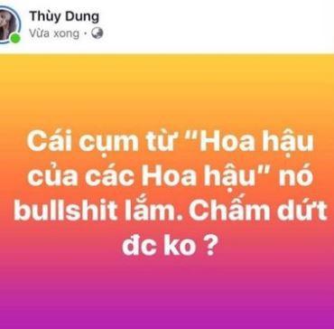 Mỉa mai về danh hiệu mà HHen Niê đang chinh chiến, Hoa hậu Thùy Dung bị chỉ trích ghen ăn tức ở  - Ảnh 1.