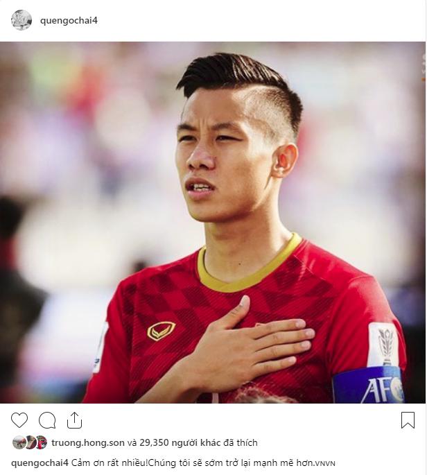 Các cầu thủ Việt Nam chia sẻ gì trên MXH sau màn đối đầu nghẹt thở với Nhật Bản? - Ảnh 1.