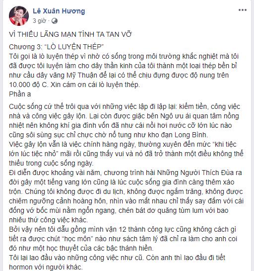 Vừa cảnh cáo Thanh Bạch không được nhắc đến tên mình, NS Xuân Hương đã tung ngay chương 3 vạch mặt chồng cũ - Ảnh 1.