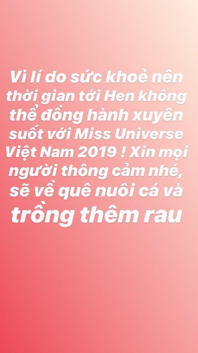 Phía Hoa hậu Hoàn vũ lên tiếng về việc H'Hen Niê đột ngột tuyên bố dừng đồng hành, làm rõ tin đồn có mâu thuẫn  - Ảnh 1.