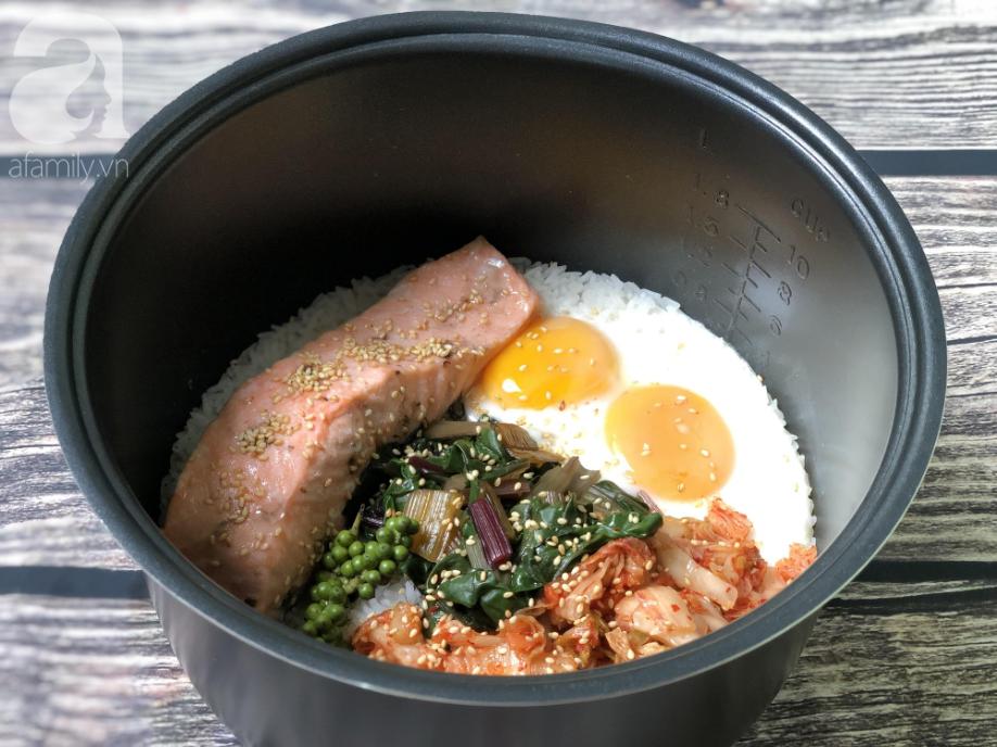 Món cơm Bibimbap nổi tiếng Hàn Quốc hóa ra có thể nấu cực dễ dàng chỉ với 1 chiếc nồi cơm điện - Ảnh 5.