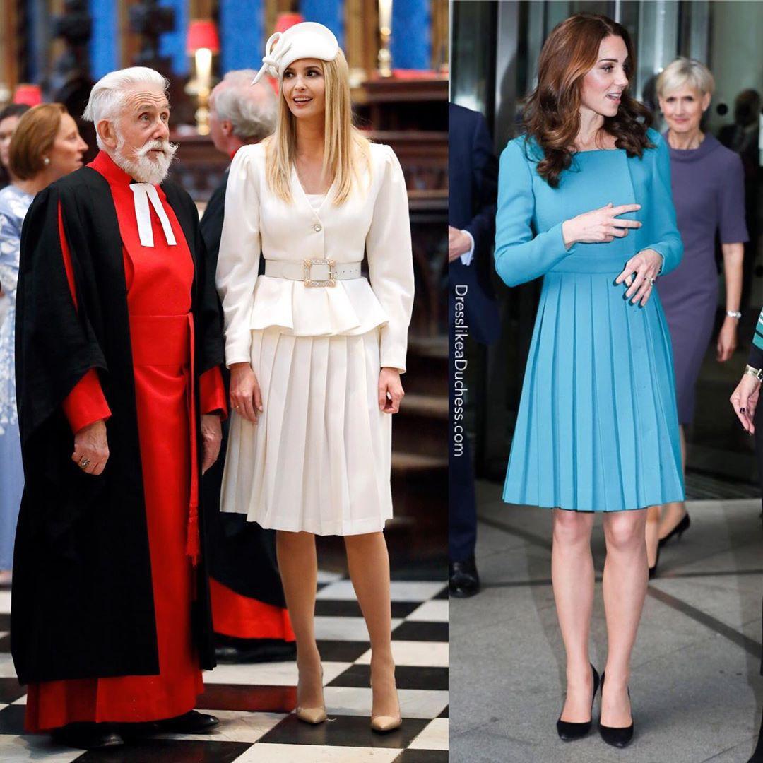 """""""Đánh bại"""" Meghan Markle nhưng con gái tổng thống Trump vẫn """"thua đẹp"""" trước công nương Kate khi cùng diện đồ hao hao - Ảnh 3."""