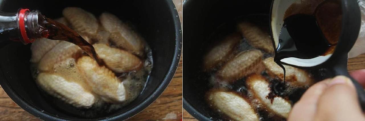 Dùng nồi cơm điện làm món cánh gà om Coca mềm ngon xuất sắc - Ảnh 4.