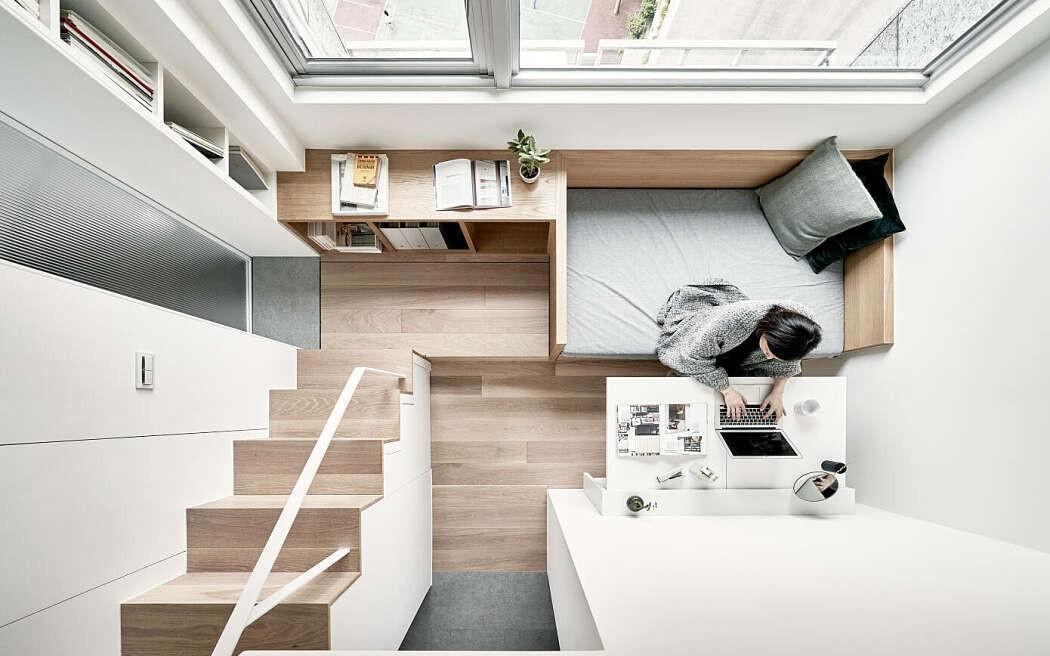"""Căn hộ 22m² có cách thiết kế đỉnh cao khiến những người ở nhà rộng cũng """"phát thèm"""""""