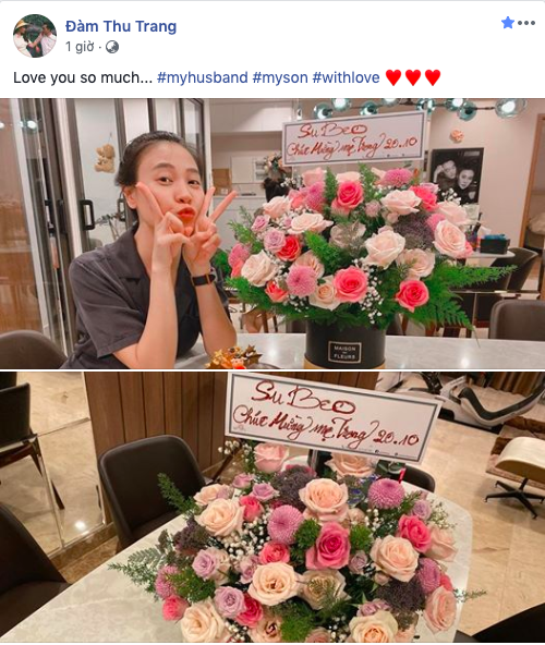 """Mối quan hệ đáng ngưỡng mộ giữa Đàm Thu Trang và Subeo, 20/10 cũng không quên tặng """"mẹ kế"""" món quà bất ngờ - Ảnh 1."""