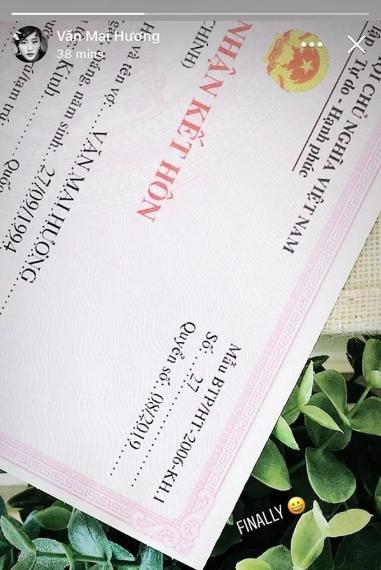 """Mới gây sốt vì thông tin sắp làm cô dâu, Văn Mai Hương đã bị """"bóc phốt"""" giấy đăng ký kết hôn là hàng giả - Ảnh 2."""
