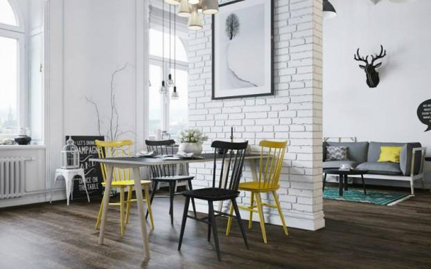 Sử dụng màu vàng táo bạo cho căn hộ 25m² chuẩn phong cách Scandinavia