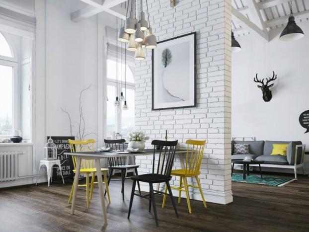 Sử dụng màu vàng táo bạo cho căn hộ chuẩn phong cách Scandinavia tạo bất ngờ lớn - Ảnh 4.